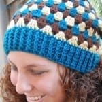 Crochet Granny Stripes Hat + Tutorial