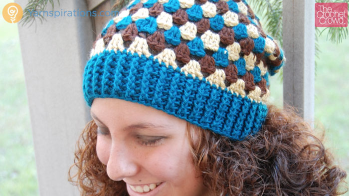 Crochet Granny Stripes Hat Pattern