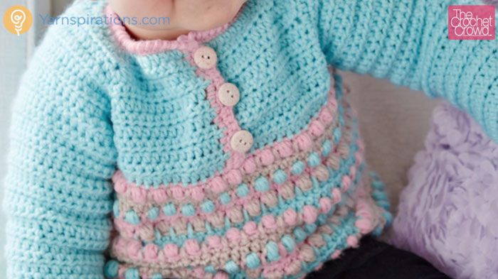 Pull It Over The Top Crochet Baby Sweater