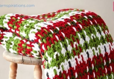 Crochet Plaid Blanket + Tutorial