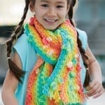 Crochet Kids Rainbow Scarf + Tutorial