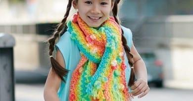 Yarnspirations Rainbow Scarf Pattern