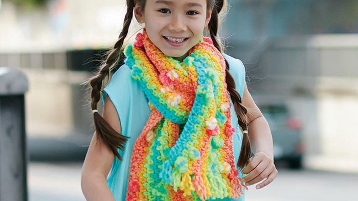 Crochet Kids Rainbow Scarf Tutorial The Crochet Crowd
