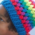 Rainbow Granny Stripes Hat for Kids