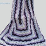 Crochet Granny Rectangle Afghan + Tutorial