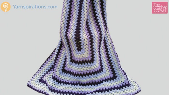 Crochet Granny Rectangle Afghan Tutorial The Crochet Crowd