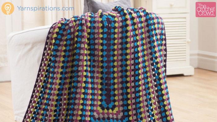 Crochet Granny Rectangle Afghan Tutorial The Crochet Crowd