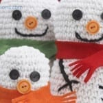 Crochet Snowman Family + Tutorial