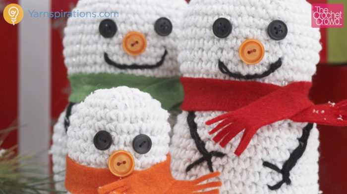 Crochet Snowman Family Pattern
