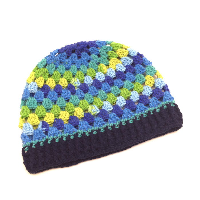 Crochet Granny Stripes Hat + Tutorial  5c21c929b2e