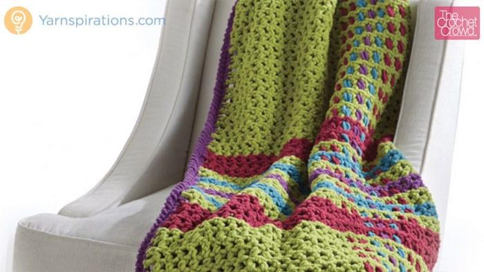 Tad O'Plaid Crochet Throw