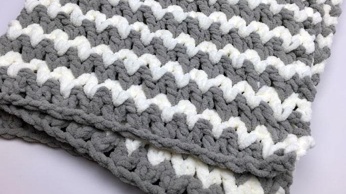 Trendy Crochet Baby Blanket Pattern The Crochet Crowd