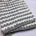 Trendy Crochet Baby Blanket by Mikey