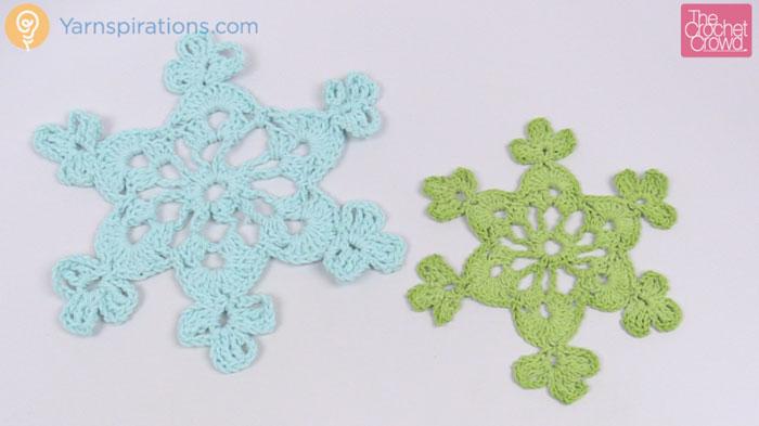 Crochet Twinkling Snowflake Design 2
