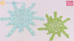 Crochet Twinkling Snowflake Design 3