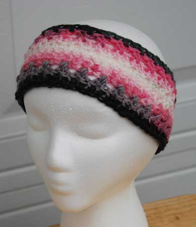 Moebius Headband Earwarmer crocheted by Jeanne Steinhilber