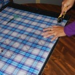 Crochet Edge Flannel Scarf by Jeanne Steinhilber