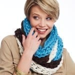 Tri Color Crochet Cowl Pattern