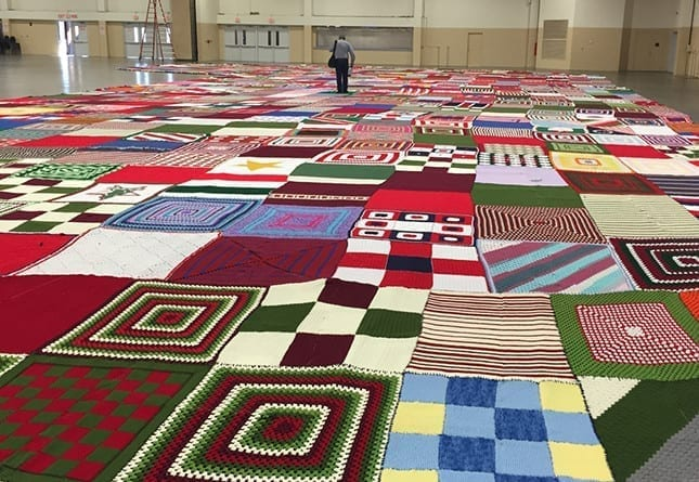 World's Biggest Stocking: New World Record by Yarnspirations