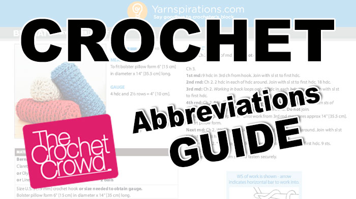 Crochet Abbreviations Guide
