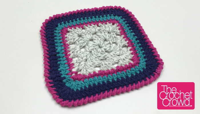 Crabby Granny Square Border Pattern