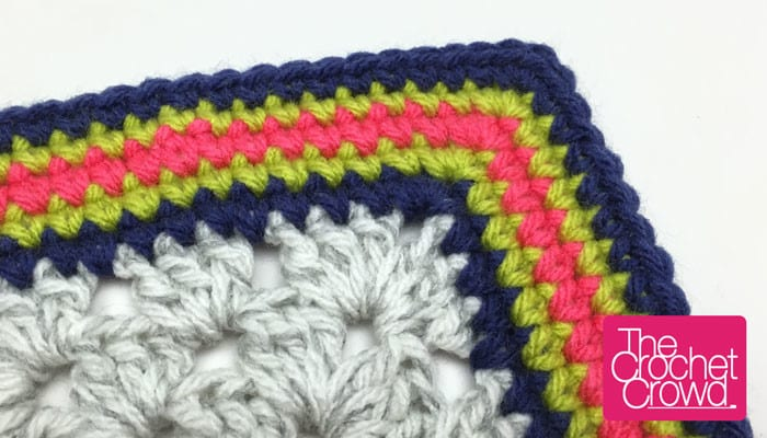 Single Crochet Granny Square Border Pattern