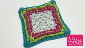Birthday Cake Granny Square Border Pattern