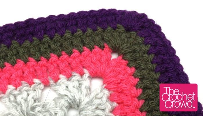 Double Crochet Granny Square Border Pattern