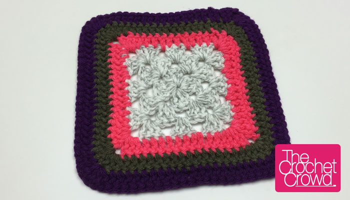 Double Crochet Granny Square Border Tutorial The Crochet Crowd