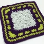 Brick Block Granny Square Border Pattern