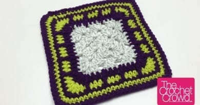 Brick Block, Granny Square Border Pattern