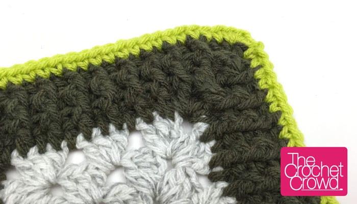 Rib Stitch Granny Border Pattern