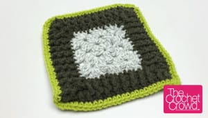 Rib Stitch Granny Square Border Pattern