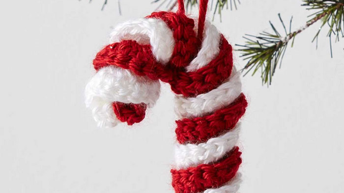 Christmas Candy Cane Crochet Pattern