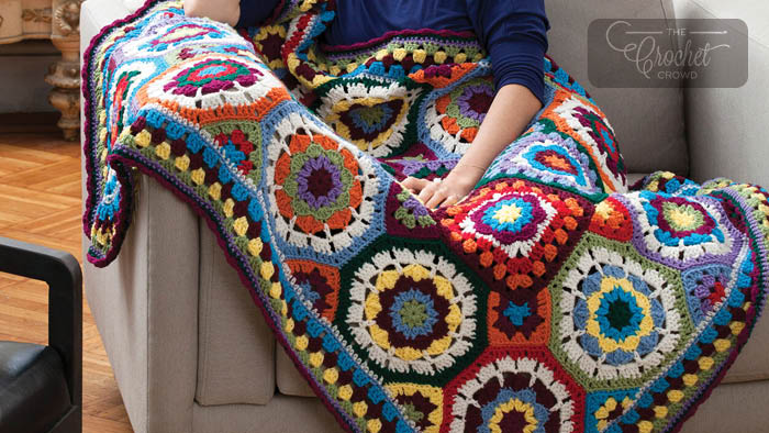 Crochet In Love with Colour Throw Pattern