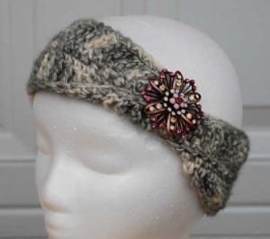 Infinity Headband II crocheted by Jeanne Steinhilber