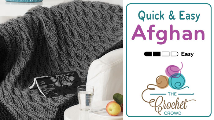 Crochet Quick Easy Afghan Tutorial The Crochet Crowd