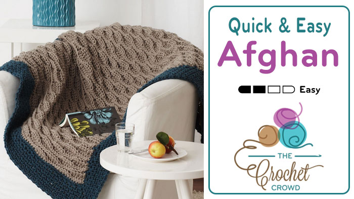 Crochet Neutral Afghan Pattern Tutorial The Crochet Crowd