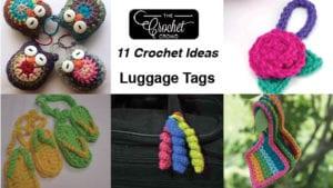 11 Crochet Luggage Tags