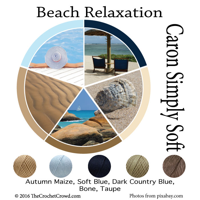 Caron Simply Soft Beach Relaxation Color Combinations