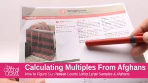 Calculating Multiples for Repeat Stitch Pattern for Crochet