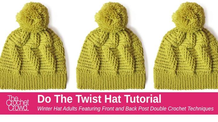 Crochet Do the Twist Hat Pattern