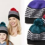 Crochet Houndstooth Hats for the Family + Tutorial