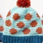Crochet Going Dotty Hat + Tutorial