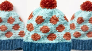 Crochet Going Dotty Hat Pattern