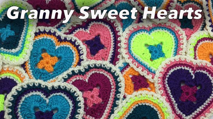 Crochet Granny Sweet Hearts Pattern