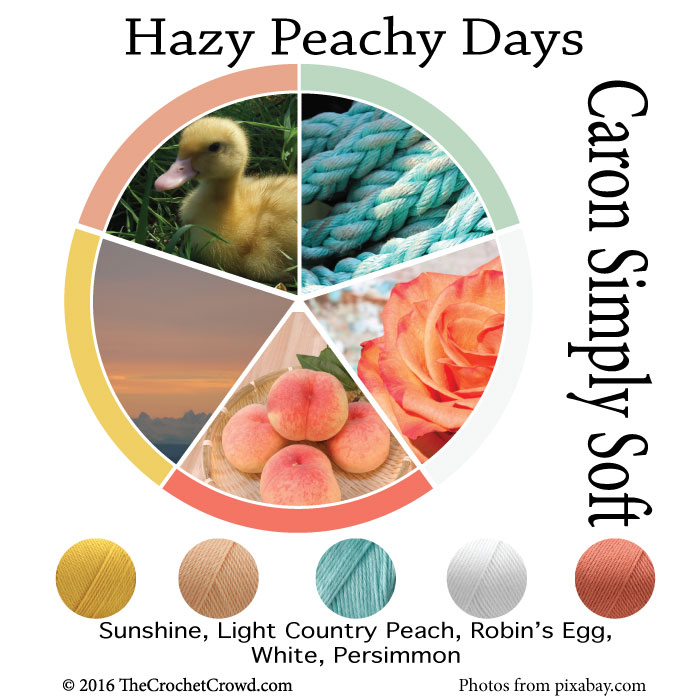 Caron Simply Soft Hazy Peachy Days Color Combinations