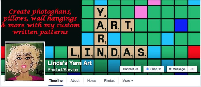 Linda's Yarn Art Facebook Page