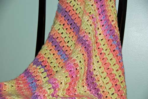 Magic Baby Blanket crocheted by Jeanne Steinhilber