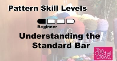 What do the skill level bar increments mean for crochet?